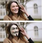 Anonymous Carla Bruni Sarkozy