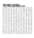 first 3 words describe you