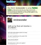 Stevie Wonder twitter account